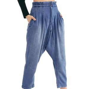 Free People Mover Shaker Tapered Crop Denim Pants